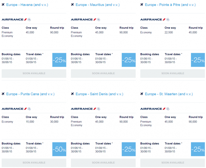 Air France-KLM Flying Blue June 2015 Promo Awards Caribbean & Indian Ocean 3