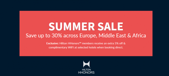 Hilton HHonors Europe Middle East Africa Summer Weekends Up To 35 Percent off Sale