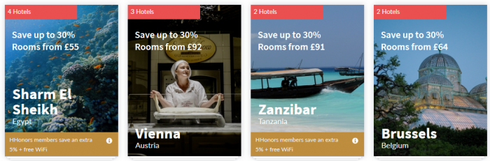 Hilton HHonors Europe Middle East Africa Summer Weekends Up To 35 Percent off Sale Tiles 3
