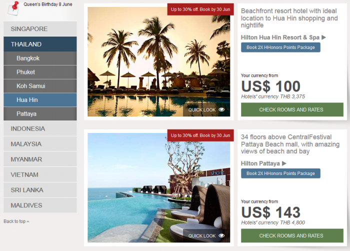 Hilton HHonors Southeast Asia Up To 30 Percent Off Sale Thailand 4