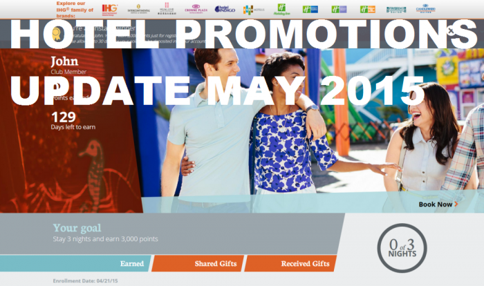 Hotel Promotions Update May 2015