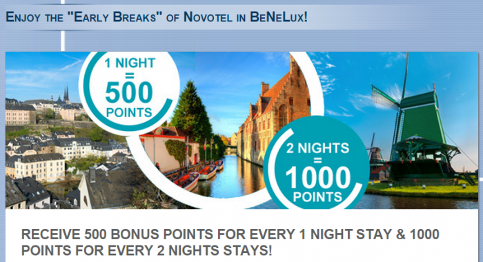Le Club Accorhotels Benelux 500 1000 Bonus Points June 1 July 31 2015