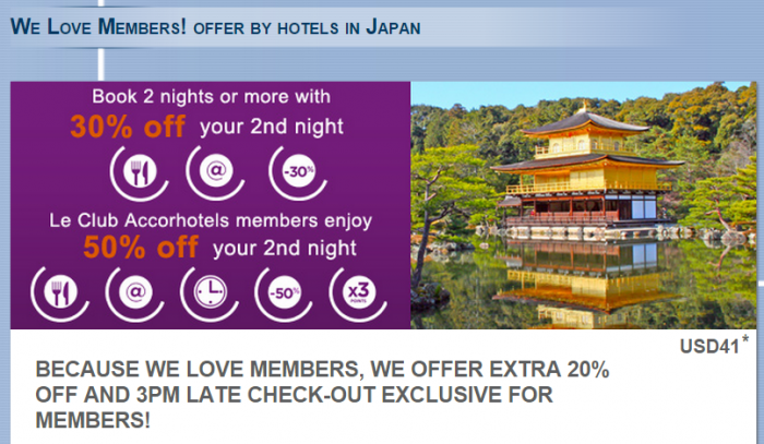 Le Club Accorhotels Japan Offer May 11 September 30 2015