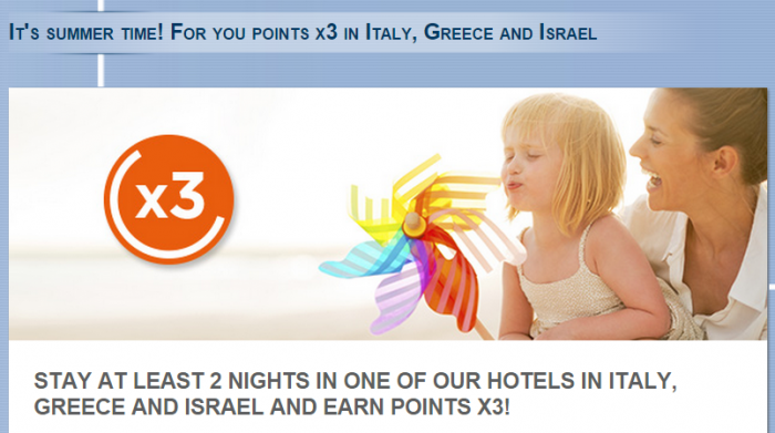 Le Club Accorhotels Triple Points Italy Greece Israel May 29 August 31 2015