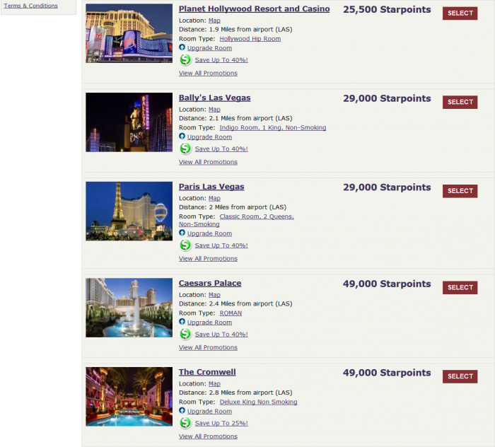 SPG Caesars Entertainment Up To 40 Percent Off Awards + VIP Access For Platinum Members LAS 2