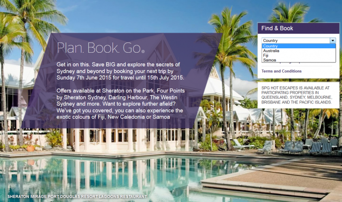 SPG Hot Escapes Next Week