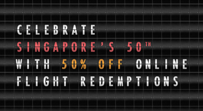 Singapore Airlines KrisFlyer 50 Percent Off Redemptions May 20 July 10 2015