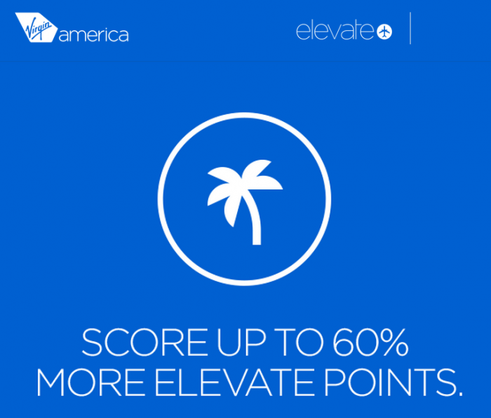 Virgin Americas Elevate Buy Gift Point 60 Percent Bonus May June 2015
