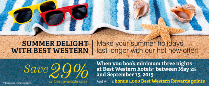 Best Western Rewards 29 Percent Off + 1,000 Bonus Points Asia May 25 September 15 2015