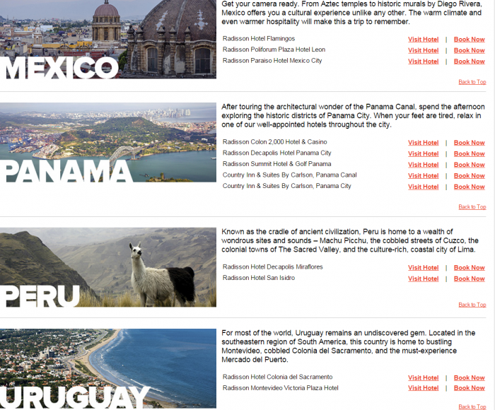 Club Carlson Latin America 25 Percent Off Awards Hotels 3