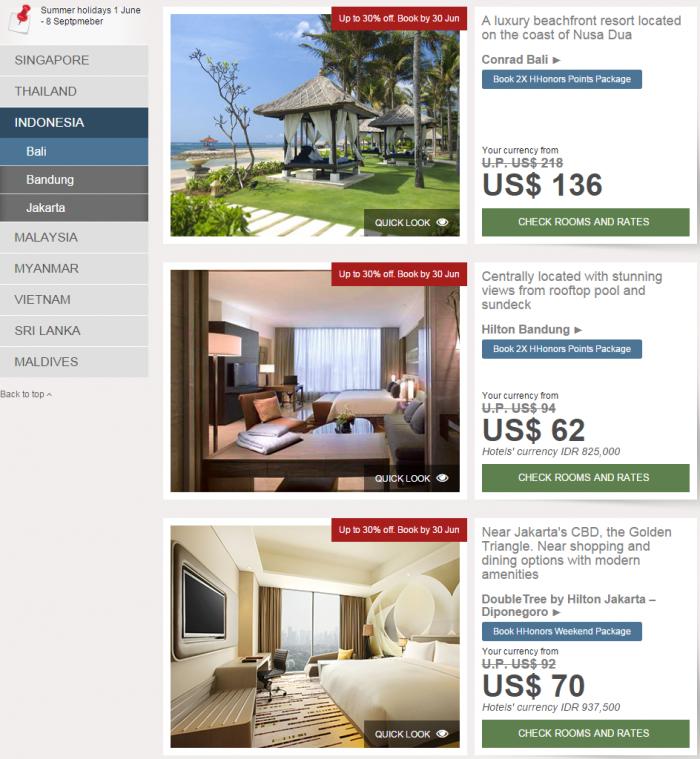 Hilton HHonors SEA Sale Indonesia