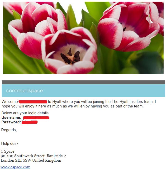 Hyatt Insiders Invitation