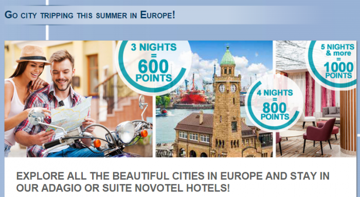 Le Club Accorhotels Belgium Luxembourg Netherlands France Spain UK Up To 1,000 Bonus Points July 1 August 31 2015
