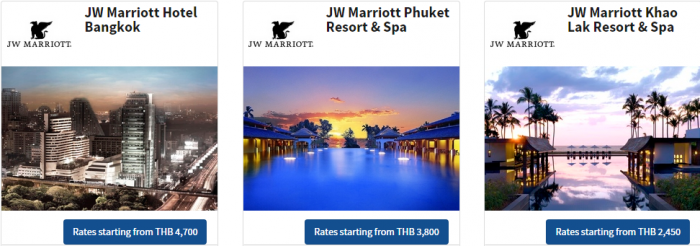 Marriott Thailand 72-hour Flash Sale For Stays July 1 December 19 2015 Hotels 1