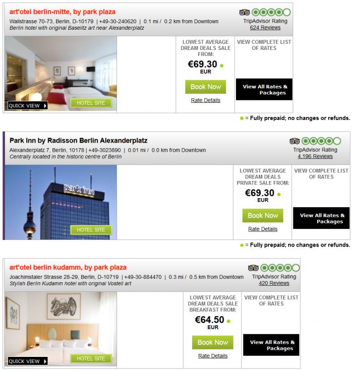 Radisson Blu Park Inn Plaza Quorvus Europe Middle East Africa 30 Percent Off Dreamdeals Summer 2015 Berlin 2