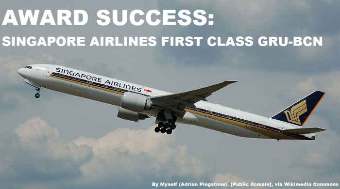 Singapore Airlines Award Ticket Success
