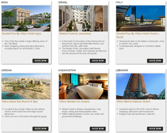 Hilton HHonors Bonus Miles Package Europe Middle East Africa 2