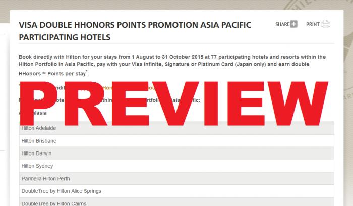 Hilton HHonors Visa Double Points