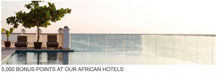 Hyatt Gold Passport 5,000 Bonus Points African Hotels July 1 September 30 2015