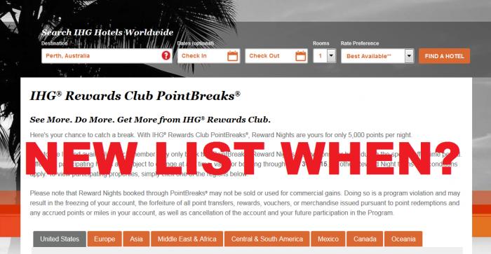 IHG Rewards Club PointBreaks