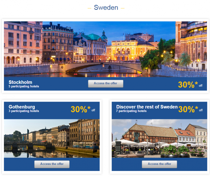 Le Club Accorhotels Europe Private Sales July 7 Sweden 1