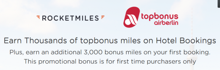 Rocketmiles Airberlin Topbonus 3,000 Bonus Miles December 31 2015