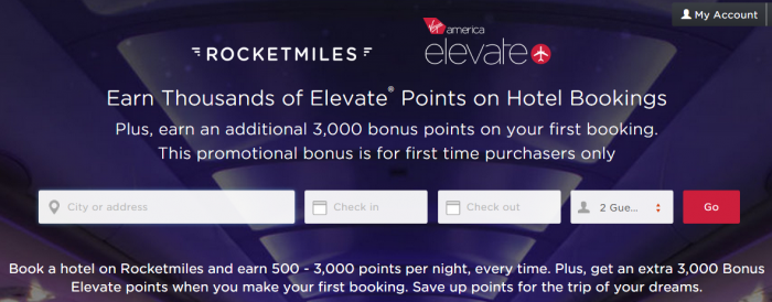Rocketmiles Virgin America 3,000 Bonus Points September 30 2015