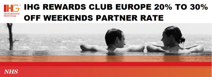 IHG Rewards Club Europe 20 To 30 Percent Off Partner Discount