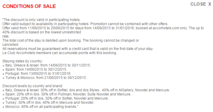 Le Club Accorhotels August 2015 Private Sales Mediterranean Conditions
