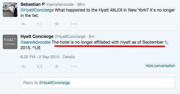 Hyatt 48LEX Twitter