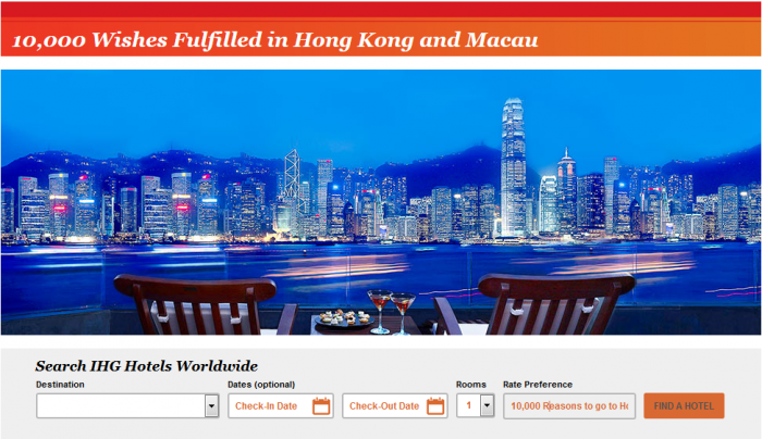IHG Rewards Club Hong Kong & Macau 10,000 Bonus Points February 29 2016