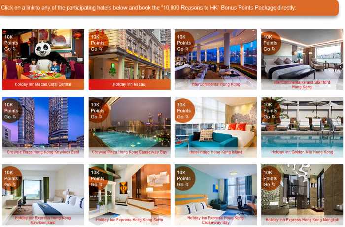 IHG Rewards Club Hong Kong & Macau 10,000 Bonus Points February 29 2016 Participating Hotels