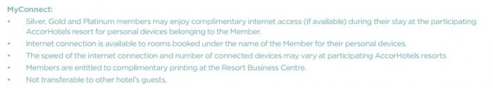 Le Club Accorhotels MyResorts Benefits MyConnect T&Cs