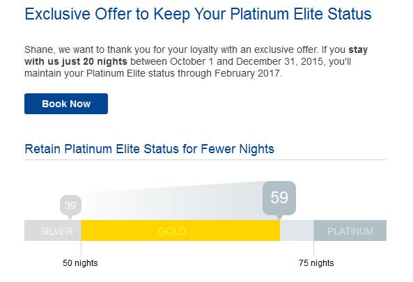 Marriott Rewards Platinum Targeted Offer