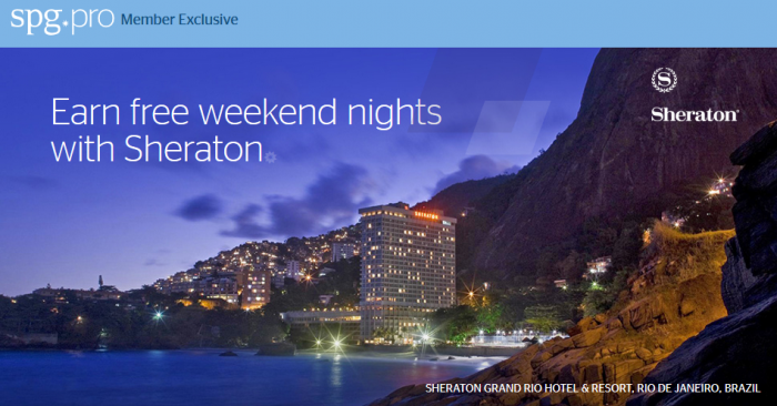 SPG Pro Member Exclusive Earn Free Weekend Nights With Sheraton Promotion