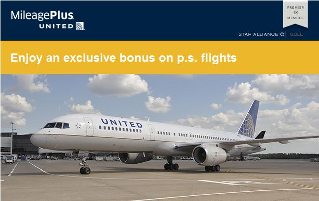 United Airlines MileagePlus PS EWR LAX SFO Promo