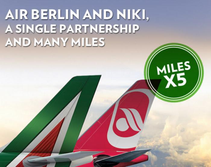 Alitalia MilleMiglia Up TO 5X Airberlin Topbonus Miles
