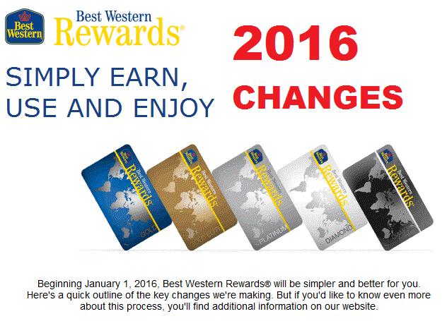 Best Western Rewards 2016