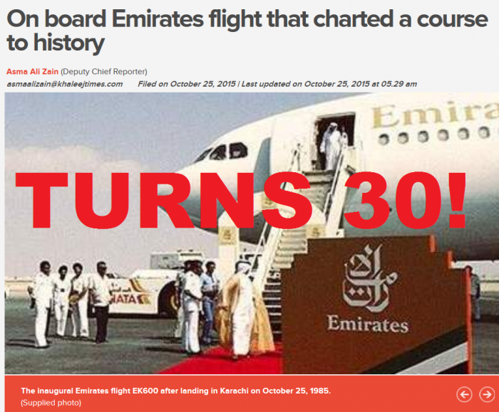 Emirates Turns 30!