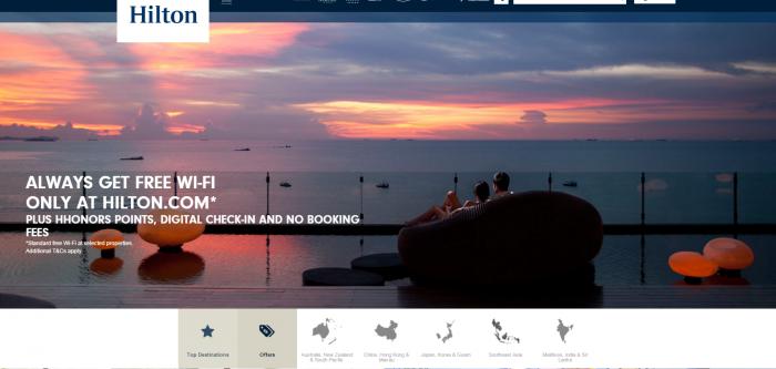 Hilton Asia Pacific Deals Website