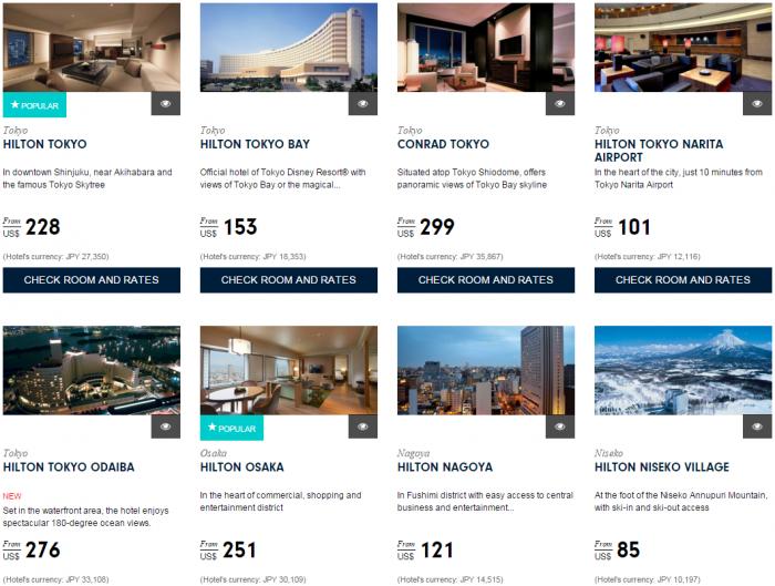 Hilton Asia Pacific Deals Website Japan Korea Guam