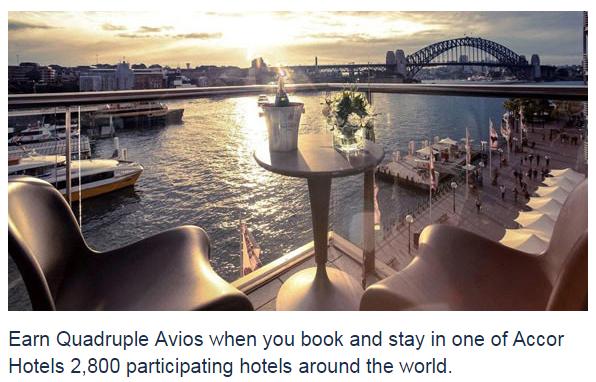 Le Club AccorHotels British Airways Quadruple Avios October 1 December 31 2015