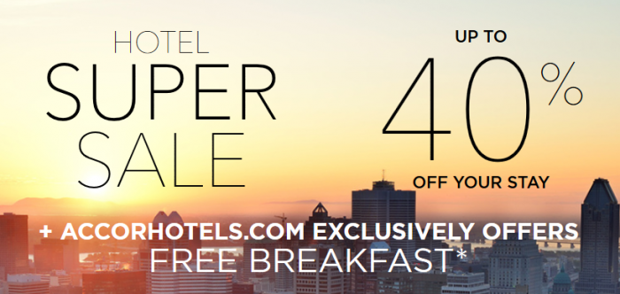 Le Club AccorHotels October 2015 Super Sale For Stays November 1 - April 30 2016