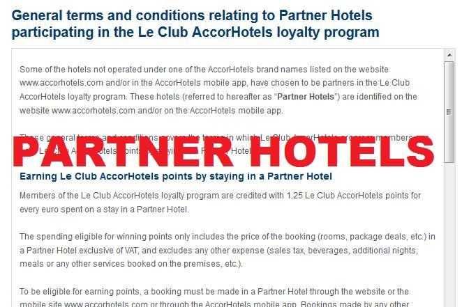 Le Club AccorHotels Partner Hotels