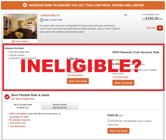 Reader Question IHG Advance Purchase Rate