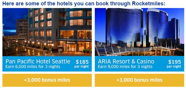 Rocketmiles United Airlines 3,000 Bonus Miles First Booking Until December 31 2015 Examples