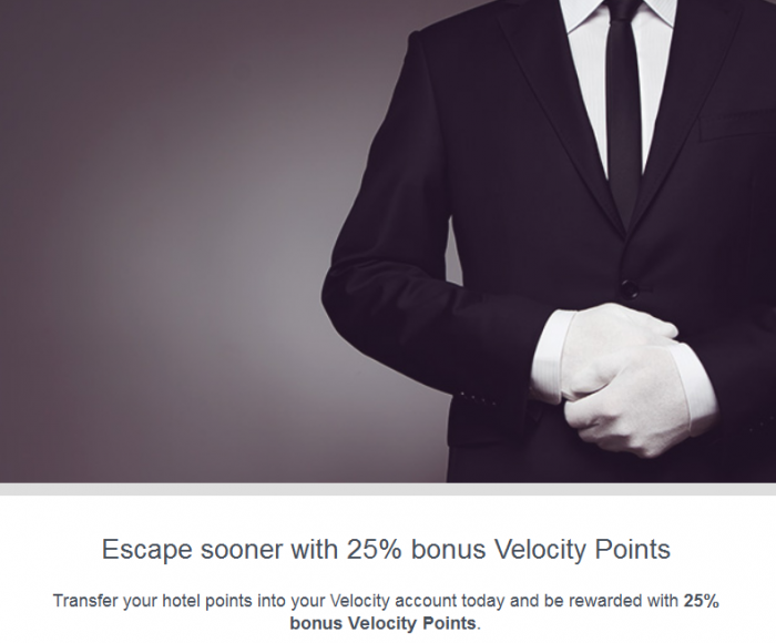 Virgin Australia 25 Percent Hotel Points To Velocity Bonus Until December 31 2015