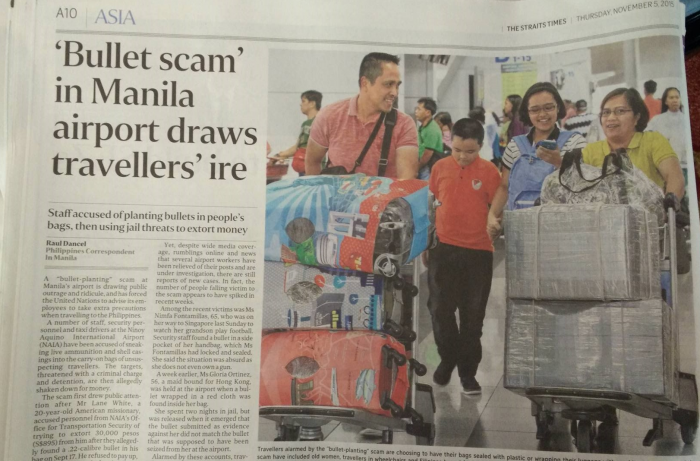 Bullet Scam Ninoy Aquino International Airport