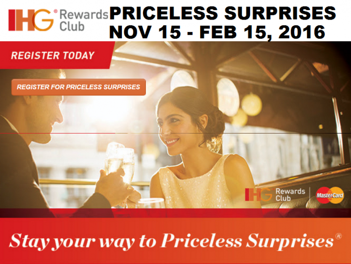 IHG Rewards Club MasterCard Priceless Promotion U Email