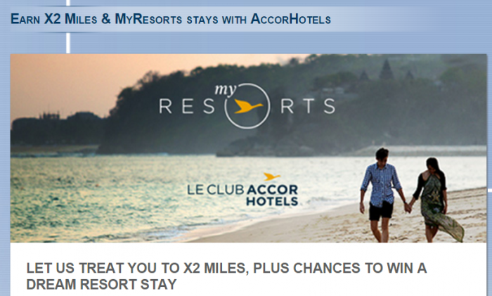 Le Club AccorHotels Cathay Pacific AsiaMiles Double Miles Offer November 3 - December 31 2015